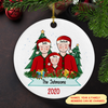 Family Christmas - Personalized Ceramic Christmas Ornament