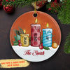 Candle Family - Personalized Ceramic Christmas Ornaments