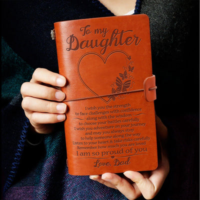 DAUGHTER DAD - PROUD OF YOU - VINTAGE JOURNAL