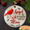 My Angel Is In Heaven - Personalized Ceramic Christmas Ornaments