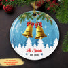 Christmas Bell Family - Personalized Custom Ceramic Circle Christmas Ornament