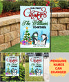 Our First Christmas Together - Personalized Custom Garden Flag - Christmas Decorations