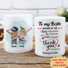 Because Of You My Bestie - Personalized Custom Coffee Mug