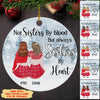 Sisters By Heart - Personalized Ceramic Christmas Ornaments