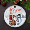 Let It Snow - Ceramic Ornaments - Christmas Ornaments, Unique Christmas Decorations