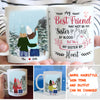 Best Friends Sisters By Heart - Personalized Custom White Mug - Best Friends Gifts