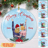 Merry Christmas Bestie - Personalized Ceramic Christmas Ornaments