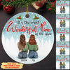 Wonderful Time - Personalized Ceramic Christmas Ornaments