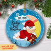 Baby's First Christmas 3 - Personalized Ceramic Christmas Ornaments