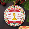 My 1st Christmas, Birth stats - Personalized Ceramic Christmas Ornaments