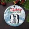 Family Of Three - Personalized Ceramic Christmas Ornaments