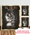 Personalized Custom Canvas - Til Death Do Us Part - Halloween Canvas - Couple Canvas - Anniversary Gifts - 6538