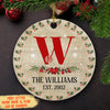 Family Name - Personalized Ceramic Christmas Ornaments