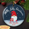 Holly Jolly Christmas - Personalized Ceramic Christmas Ornaments