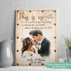 A whole lot of love - Personalized Custom Photo Canvas