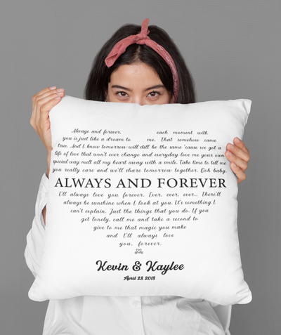 Personalized Custom Pillow - Always And Forever
