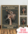 Fragile Like A Bomb - Personalized Custom Canvas - Home Decorations