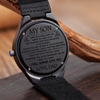 SON DAD - ALWAYS LOVE YOU - WOOD WATCH