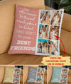 Best Friends - Personalized Custom Linen Photo Pillow - Gifts For Friends, BFF Gifts