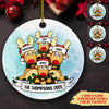 Reindeer Family - Personalized Ceramic Christmas Ornaments