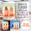Because Of You - Personalized Custom Coffee Mug - Gifts For Best Friends