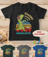 Personalized Custom Youth T-shirt - Roaring to kindergarten - Kid T-shirt, Back to school T-shirt -