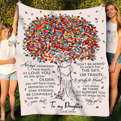 Daughter Mom - to Infinity and Beyond 2 - Fleece Blanket