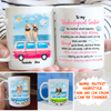 Personalized custom mug - My unpaid therapist - Birthday gift for friend - Beach view mug - Mug with quote