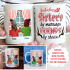 Sisters by marriage friends by choice -  Personalized custom coffee mug - Christmas Gifts for sister-in-law