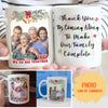 We're All Together - Personalized Photo Custom Coffee Mug - Sentimental Christmas Gifts