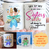 Mermaid Sisters By Heart - Personalized Custom Coffee Mug - Gifts For Sisters