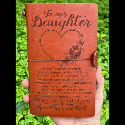 DAUGHTER MUM&DAD - PROUD OF YOU - VINTAGE JOURNAL