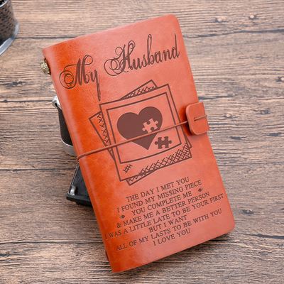 MY HUSBAND - MY MISSING PIECE - VINTAGE JOURNAL