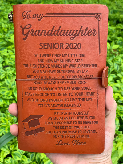 GRANDDAUGHTER NANA - BELIEVE IN YOURSELF - SENIOR 2020 - VINTAGE JOURNAL