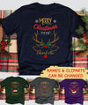 Merry Christmas - Personalized Custom Unisex T-shirt - Christmas Gift