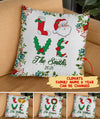 Love Christmas - Personalized Custom Linen Pillow - Christmas Gifts