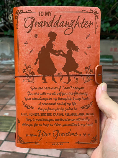 GRANDDAUGHTER GRANDMA - YOU WILL BE IN MY HEART - VINTAGE JOURNAL