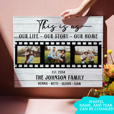This Is Us - Personalized Custom Photo Canvas - Family Canvas - Wall Art For Family