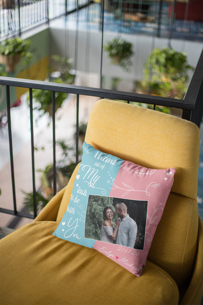 I Want All Of My Lasts To  Be With You - Personalized Custom Photo Linen Pillow