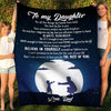 Daughter Dad - Believe in Yourself - Fleece Blanket