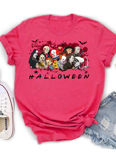 Horror Characters T-shirt - Unisex T-shirt - Halloween Shirt - Halloween Gifts - 2858