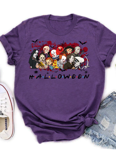 Horror Movie Characters - Classic Unisex T-shirt - Halloween T-Shirt