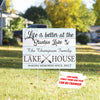 Lake house - Personalized custom yard sign - Home Decorations
