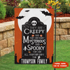 Spooky Family - Personalized Custom Garden Flag - Halloween Flag, Halloween Decor