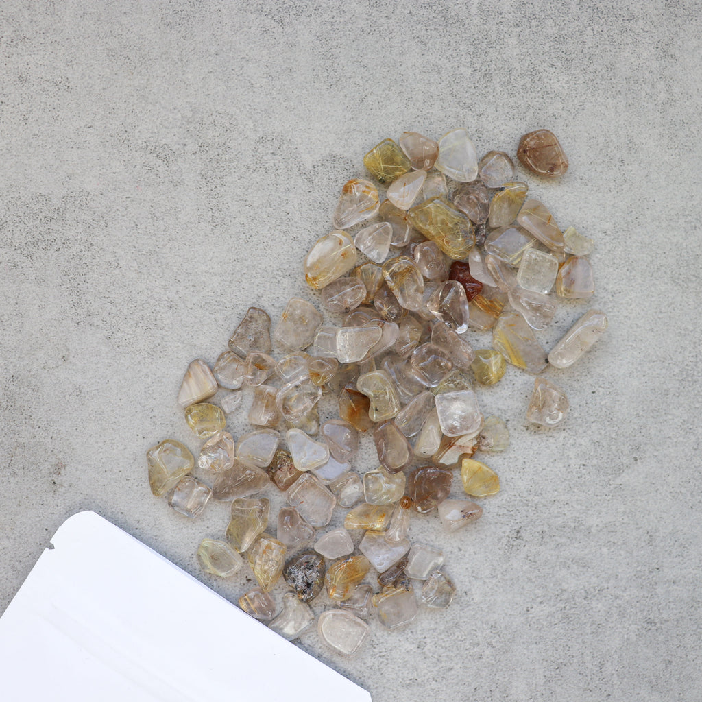 Rutilated Quartz Chips - Pretty Soul Stories Crystals