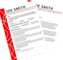 Load image into Gallery viewer, Bold resume and cover letter package Australia