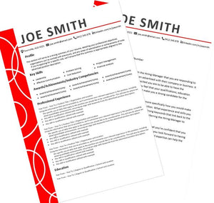 Bold resume and cover letter package Australia