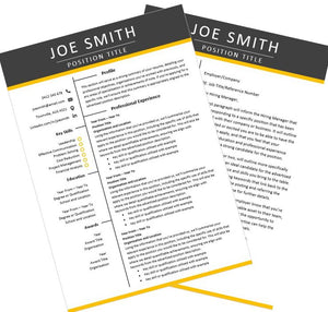 Contrast Resume and Cover Letter Package Australia