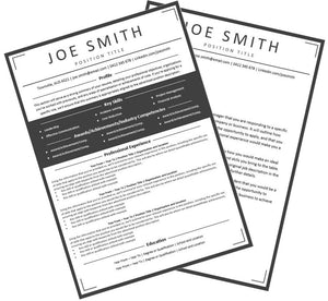 Minimalist Resume and Cover Letter Package Australia