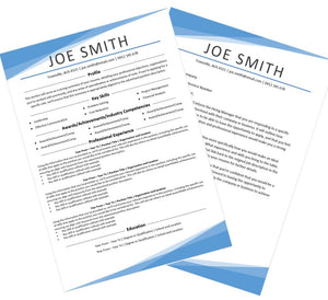 Modern Resume and Cover Letter Package Australia